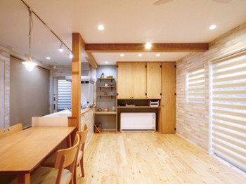 減築&駐車スペース増で家族に最適サイズの快適な家になりました。