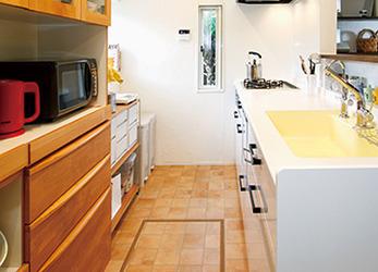対面型に変わったキッチン