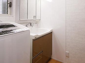 LDKから直接つながるようになった洗面脱衣室