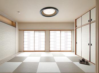 デザイン性の高い障子や琉球畳でモダンな和室に