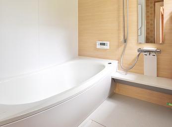 お部屋と同じように、浴室の壁もクロス感覚で