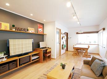 間取り変更なしでも、造作の家具と素材選びですてきに一新