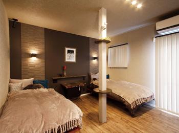 3回目のリフォームで オーディオ室を兼ねた ホテルライクな寝室に