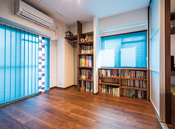 ゲストルーム扱いできる玄関横の洋室