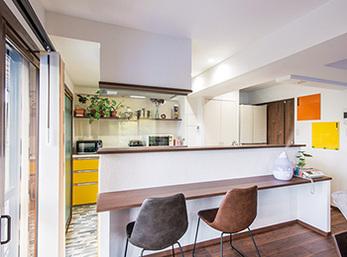 会話を楽しみつつ料理ができる喜びを対面式キッチンで実現