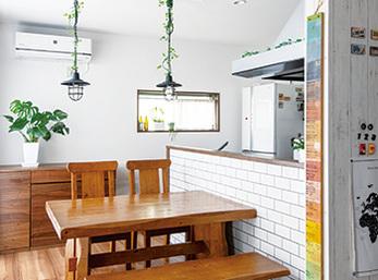 空間を最大限活用して誕生した念願の対面型キッチンとカフェ風の広々LDK空間