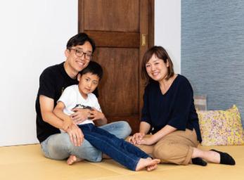 広くゆったりした 1LDKは 家族みんなで 過ごせる空間に
