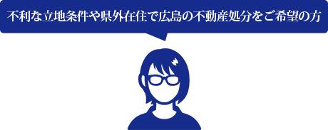 不利な立地条件や県外在住で広島の不動産処分をご希望の方